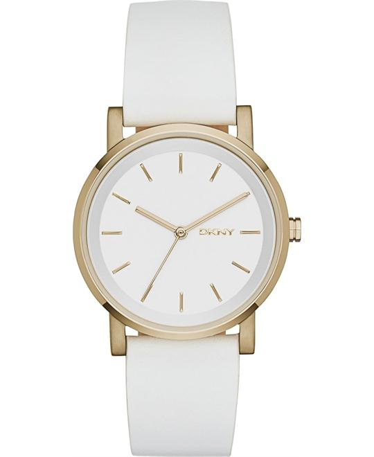DKNY Women's White Saffiano Watch 34mm