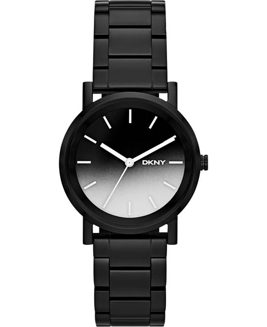 DKNY Women's Black Ion-Plated Watch 34mm