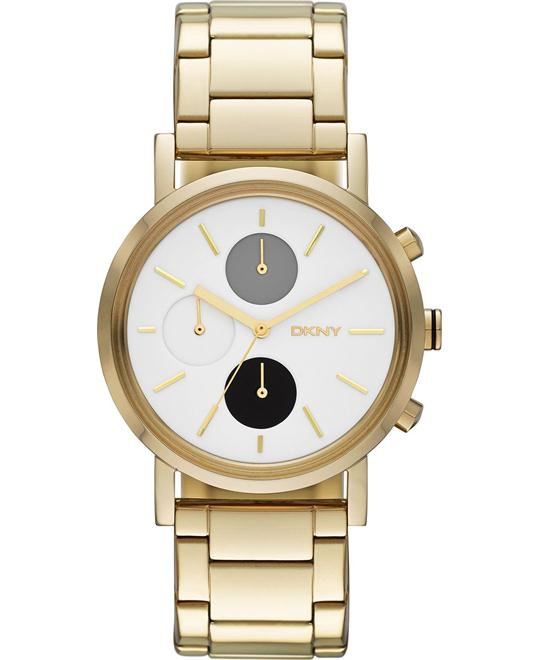 DKNY Women's Chronograph -Gold-Tone Watch 38mm