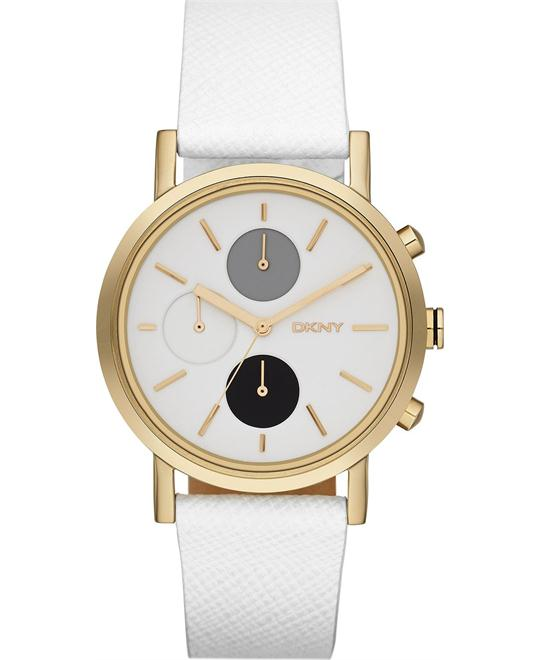 DKNY Women's Chronograph- White Watch 20mm
