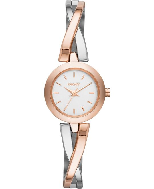 DKNY Women's Crosswalk Two-Tone Watch 20mm