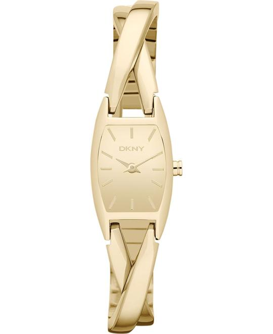 DKNY Women's Gold-Tone Watch 31x18mm