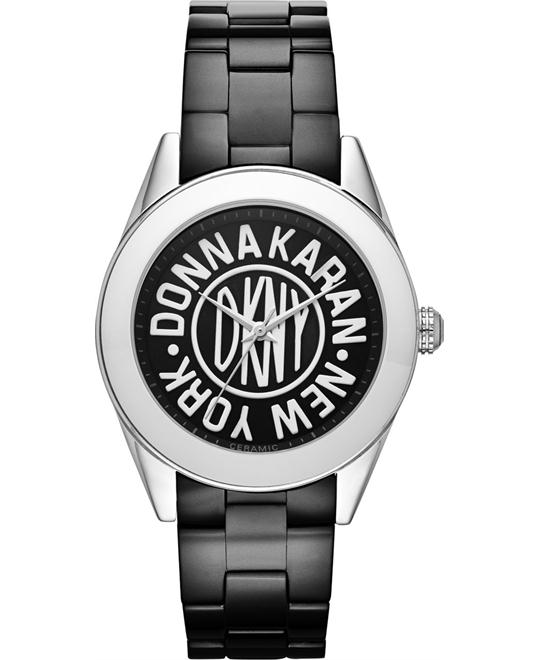 DKNY Women's Nolita Black Ceramic Watch 36mm