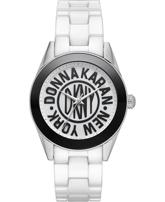 DKNY Women's Nolita White Ceramic Watch 36mm