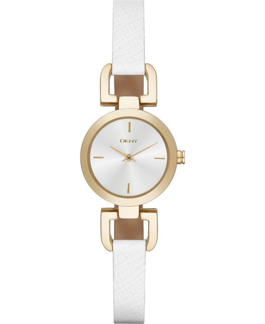 DKNY Women's Reade White Watch 24mm