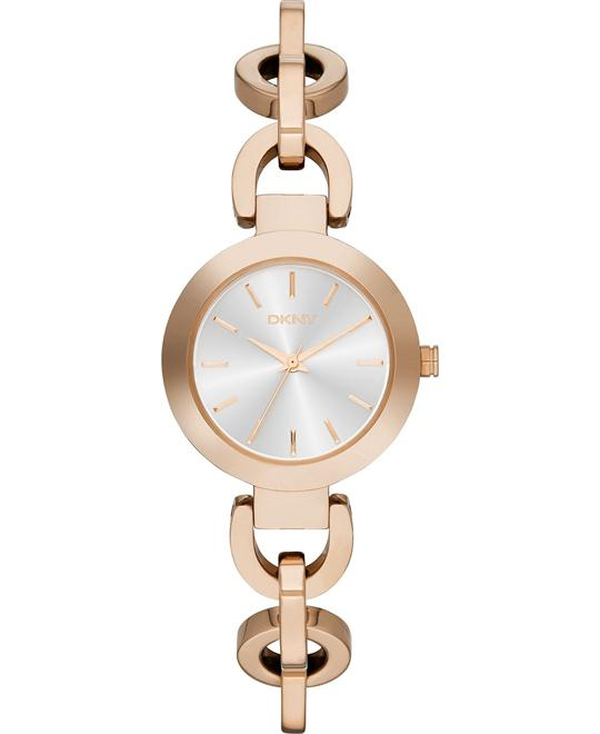 DKNY Women's Rose Gold-Tone Watch 28mm
