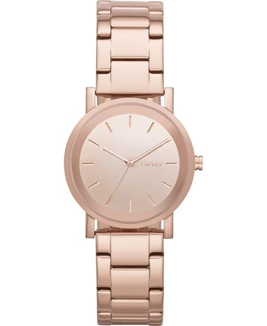 DKNY Women's Rose Gold-Tone Watch 32mm