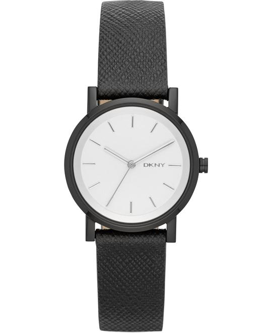 DKNY Women's Soho Black Saffiano Watch 34mm