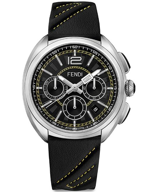 FENDI MOMENTO F230011011 CHRONOGRAPH BLACK DIAL MEN'S 46MM