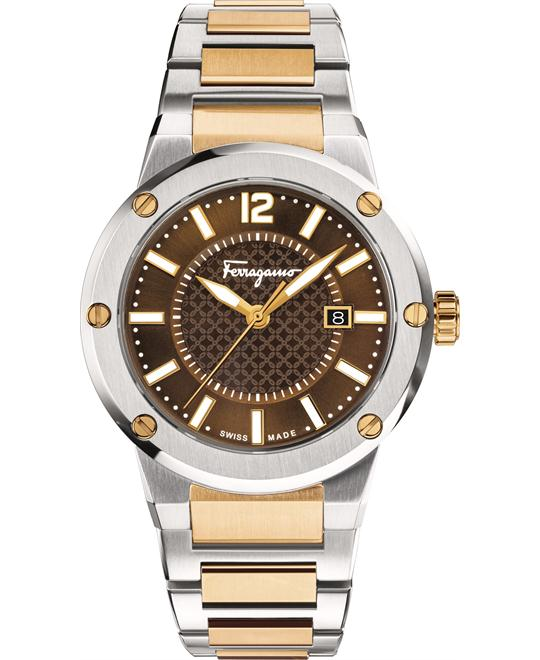 Salvatore FERRAGAMO F-80 Brown Watch 44mm
