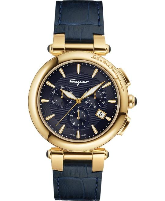 Ferragamo Idillio Navy Blue Men's Watch 42mm