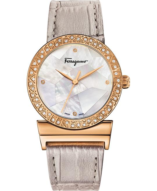 Salvatore Ferragamo Grande Maison Diamond Watch 33mm
