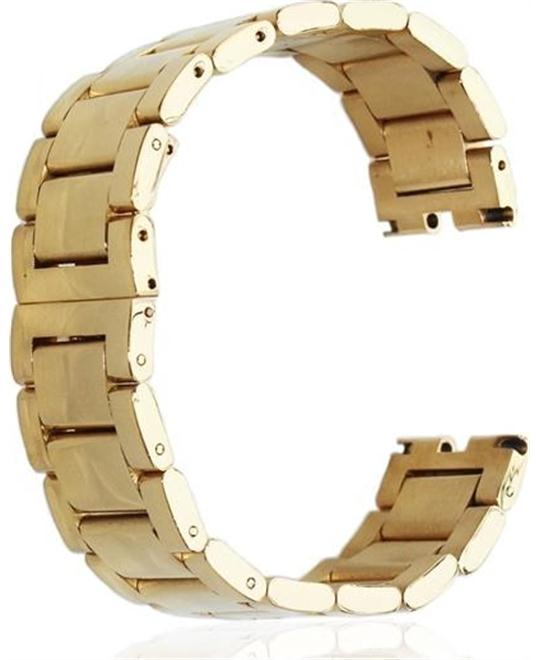 Fitian Gold Stainless Steel Watch Strap Band 22MM
