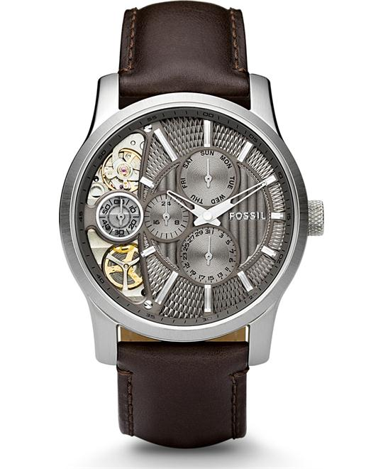 FOSSIL Multi-function Twist Taupe Cut Away Watch 42mm