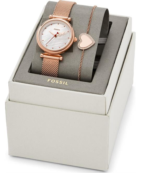 Fossil Carlie Mini Watch Set 28mm