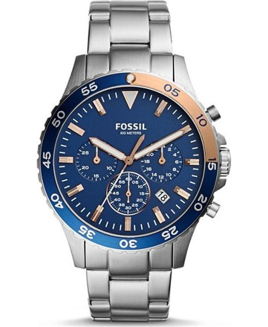 Fossil Crewmaster Sport Chronograph Stainless Steel Watch 46mm