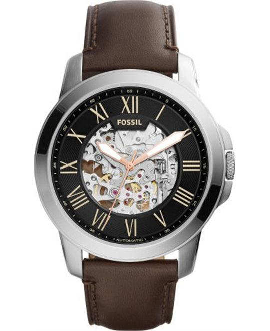 FOSSIL Grant Black Automatic Men's Watch 44mm