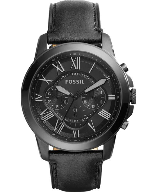 Fossil Grant Chronograph Black Watch 45mm