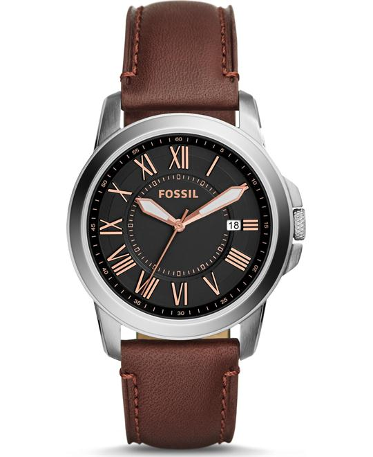 FOSSIL GRANT CHRONOGRAPH BROWN WATCH 38MM