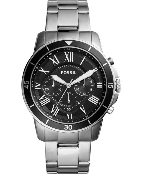 FOSSIL Grant Sport Black Dial Men's Chronograph Watch 44mm
