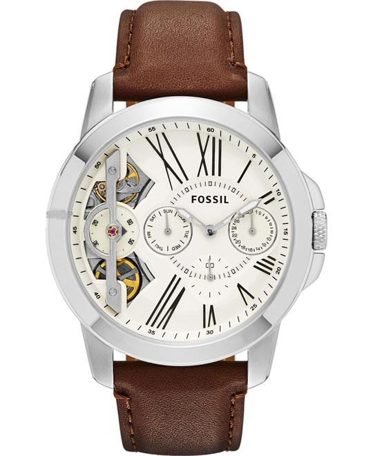 FOSSIL Grant Twist Multifunction Brown Watch 44mm