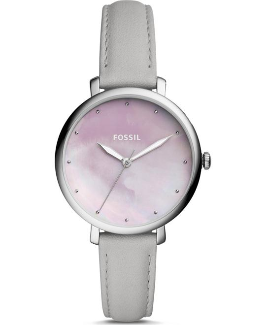 đồng hồ Fossil Jacqueline Three-Hand Mineral Gray Watch 36mm