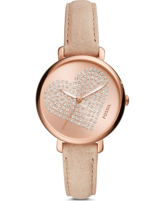 đồng hồ Fossil Jacqueline Three-Hand Pastel Pink Watch 36mm