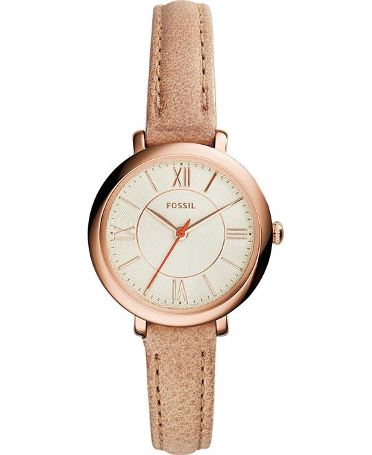 Fossil Jacqueline Small Gold-Tone Watch 26mm