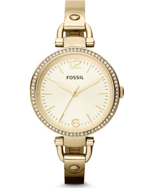 Fossil Ladies GEORGIA Gold Watch 32mm