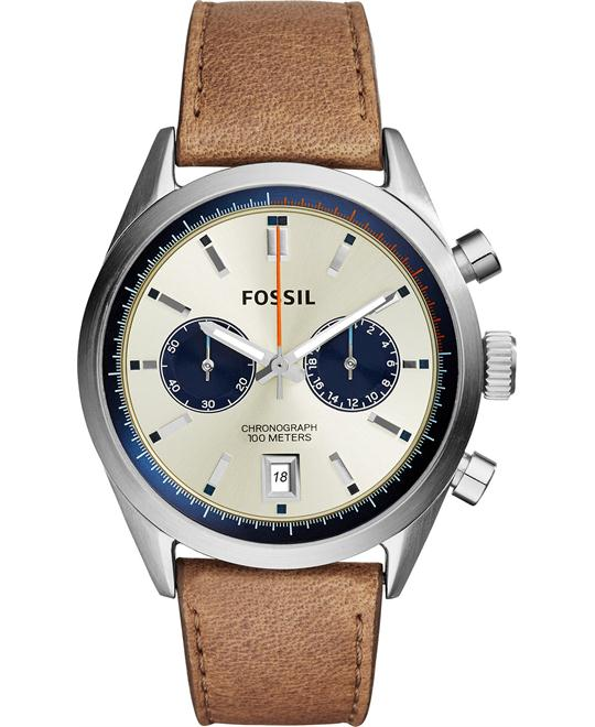 Fossil Men's Chronograph Del Rey Tan Watch 43mm