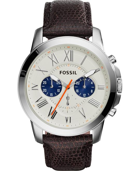 Fossil Men's Chronograph Lizard-Embossed Watch 44mm