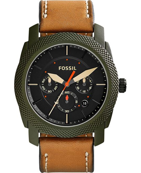 Fossil Men's Chronograph Machine Brown Watch 44mm