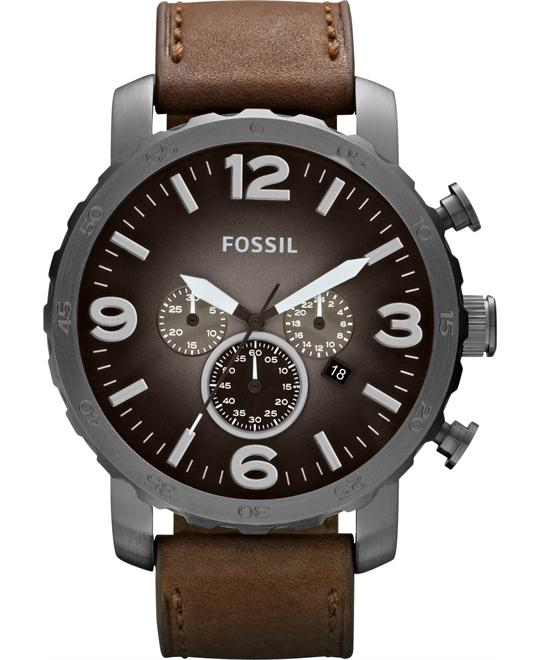 Fossil Men's Chronograph Nate Brown Watch 50mm