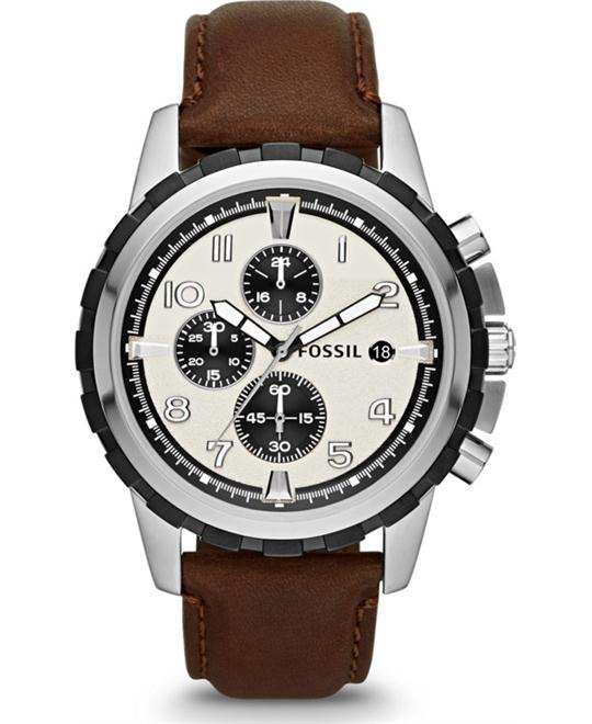 Fossil Men ́s Dean Leather Strap Chronograph Watch