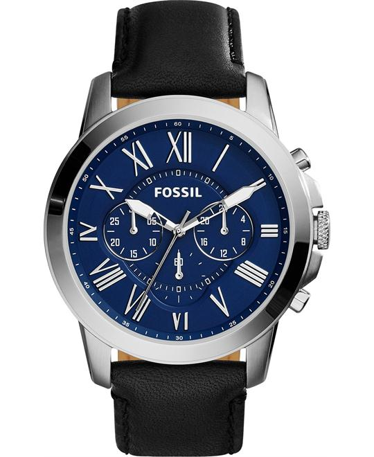 Fossil Men's Grant Chronograph Leather Watch 44mm