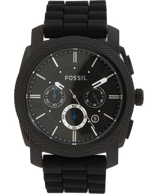 Fossil Men's Machine Chronograph Silicone Watch 45mm