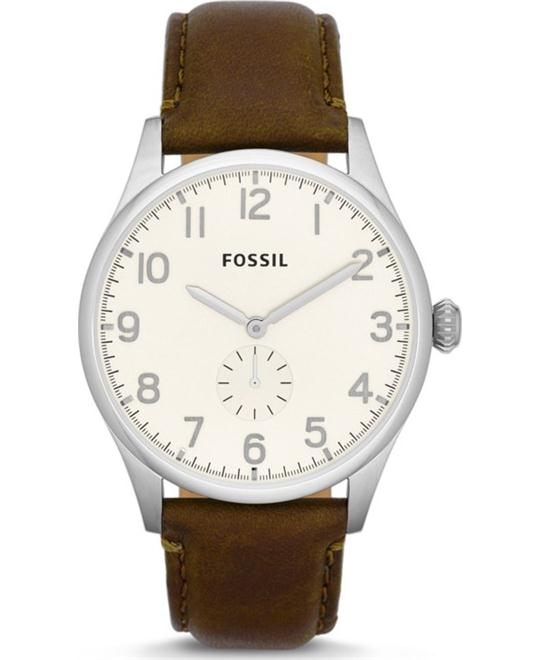 Fossil Men's The Agent Three-Hand Leather Watch 42mm