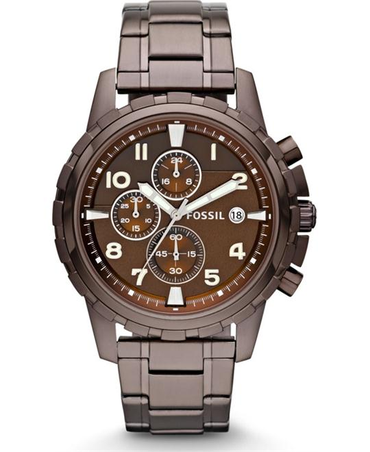 Fossil Dean Chronograph Brown Ion-plated Watch 45mm