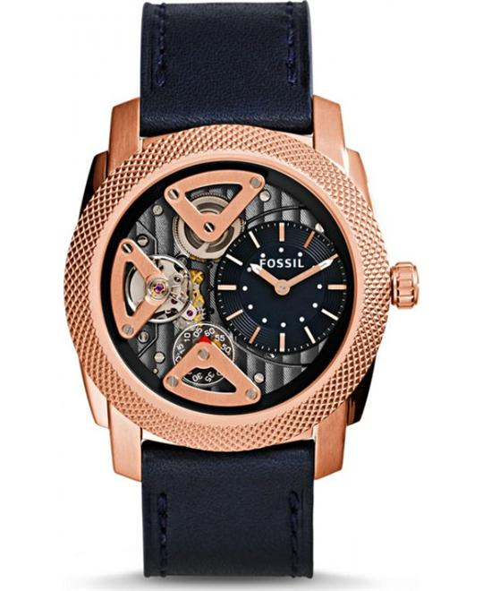 FOSSIL Skeletal Dial Navy Men's Watch 45mm