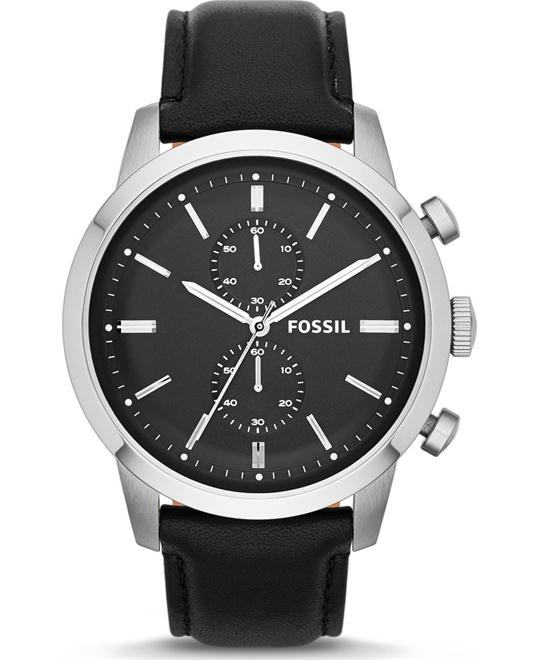 FOSSIL TOWNSMAN CHRONOGRAPH BLACK WATCH 48MM