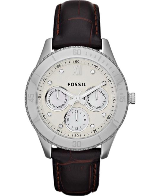 Fossil White Dial  Watch 37mm