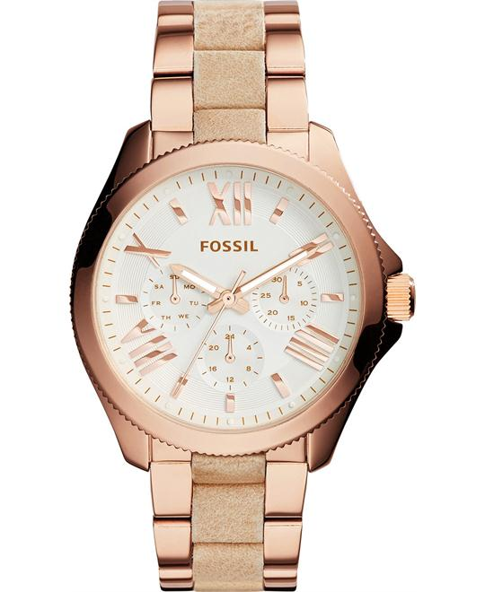 Fossil Women's Cecile Bone Leather-Wrapped Watch 40mm