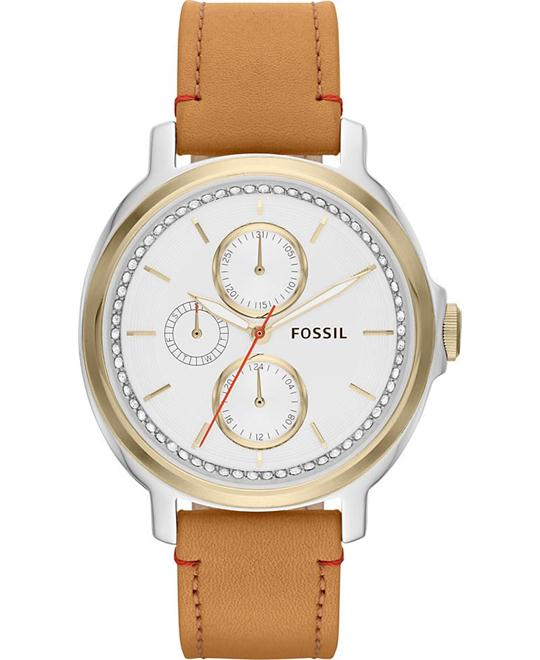 Fossil Women's Chelsey Multifunction Leather Watch 39mm