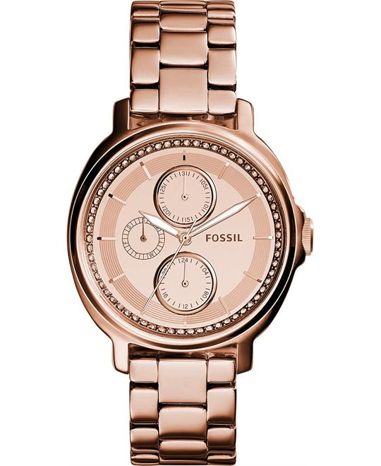 Fossil Women's Chelsey Rose Gold-Tone Watch 39mm