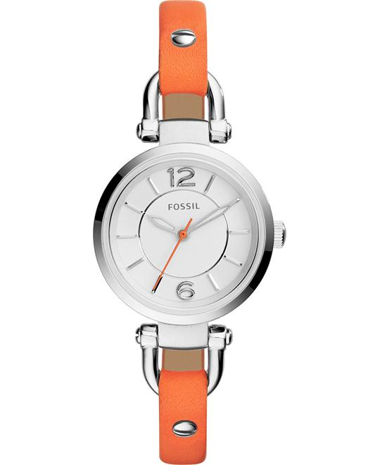 Fossil Women's Georgia Coral-Colored Watch 26mm