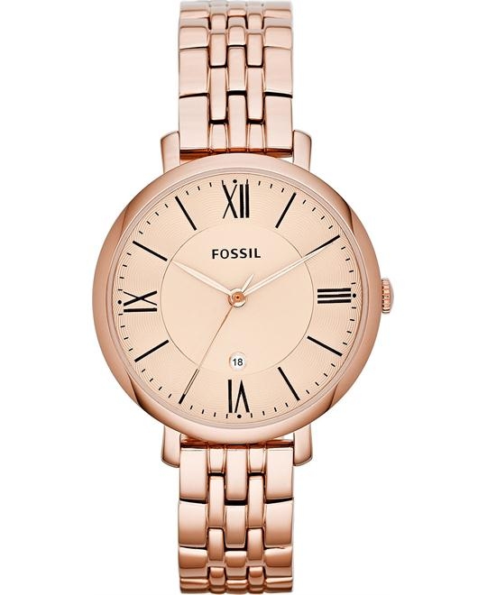 Fossil Jacqueline Rose Gold-Tone Watch 36mm