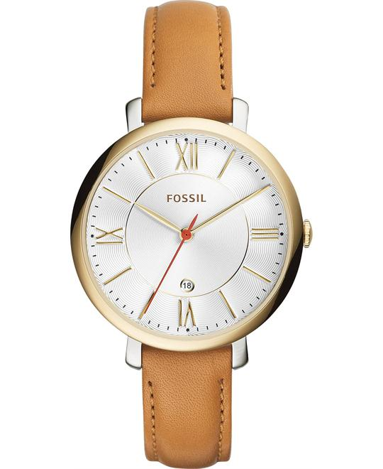 Fossil Jacqueline Women's Tan Leather Watch 36mm