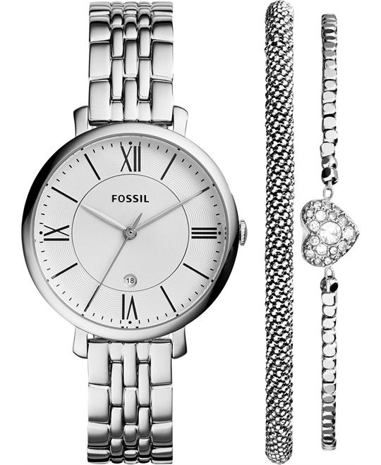 Fossil Women's Jacqueline Watch Set 36mm