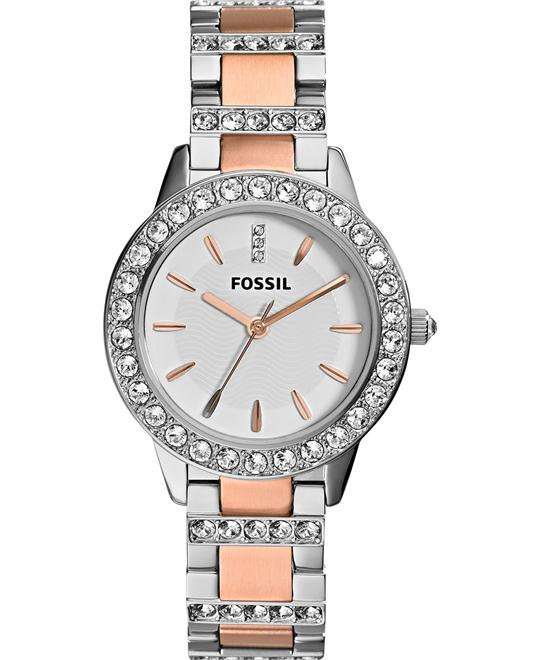Fossil Women's Jesse Crystal Accent Two-Tone Watch 34mm