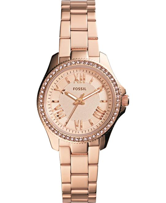 Fossil Women's Mini Cecile Rose Gold-Tone Watch 29mm